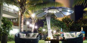 Mobiliário urbano com energia solar ativa música e iluminação