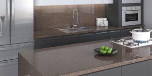 Cinco padrões de bancada de quartzo para cozinhas e espaços gourmet