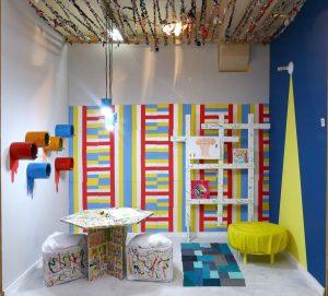 Projetos de interiores com recicláveis