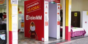 Lojas MM instala barreira sanitária contra coronavírus