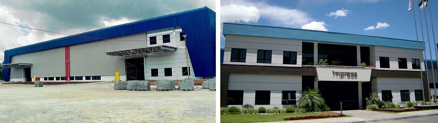 planta industrial brasileira da Impress Decor