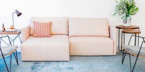 Muma lança sofá-cama retrátil e reclinável para espaços compactos